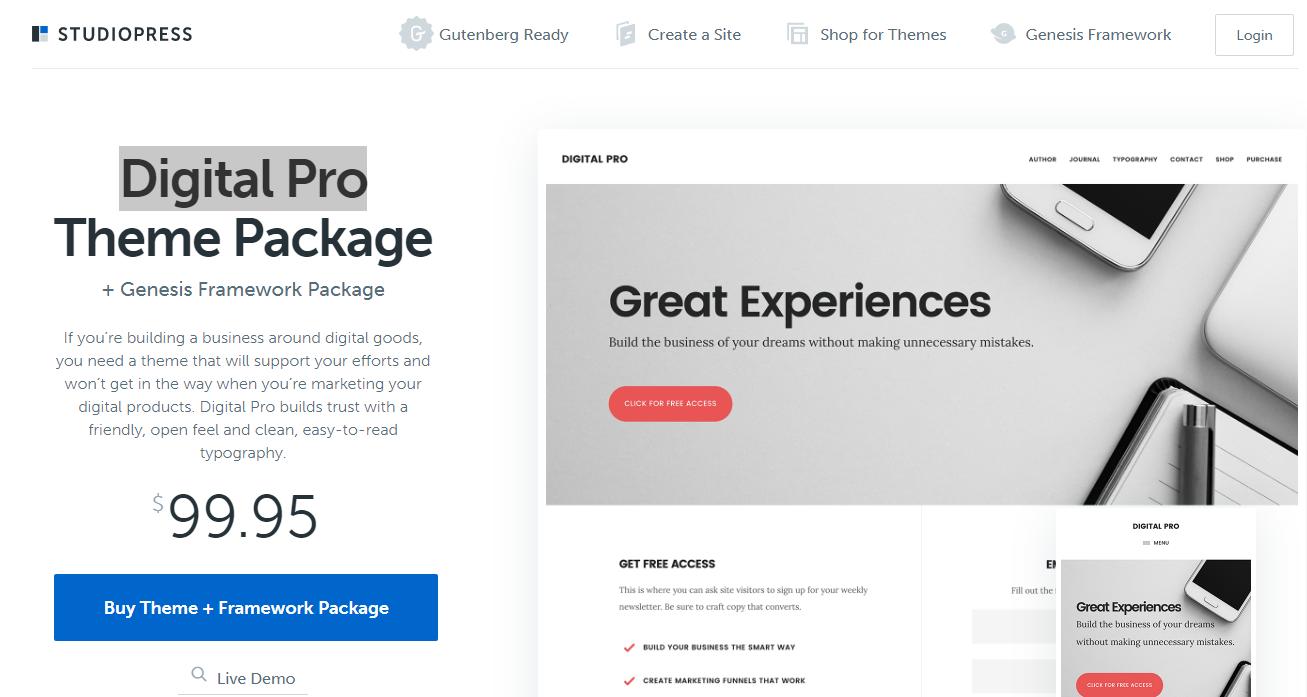 Best WooCommerce Themes - Digital Pro