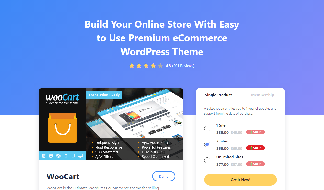 Best WooCommerce Themes - WooCart